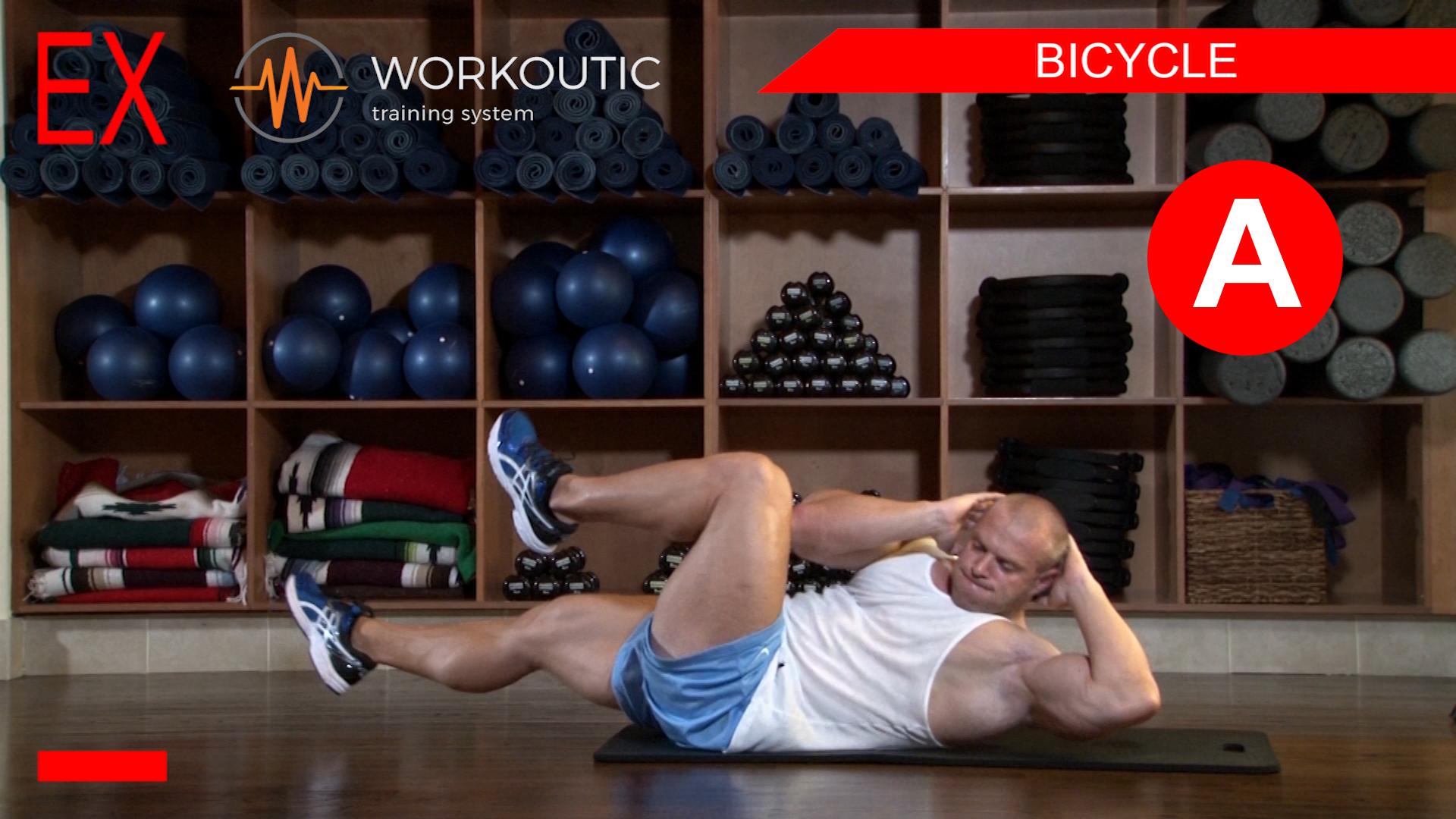 Abs Exercises - Workutic - 6 pack special - Bicycle Inhale