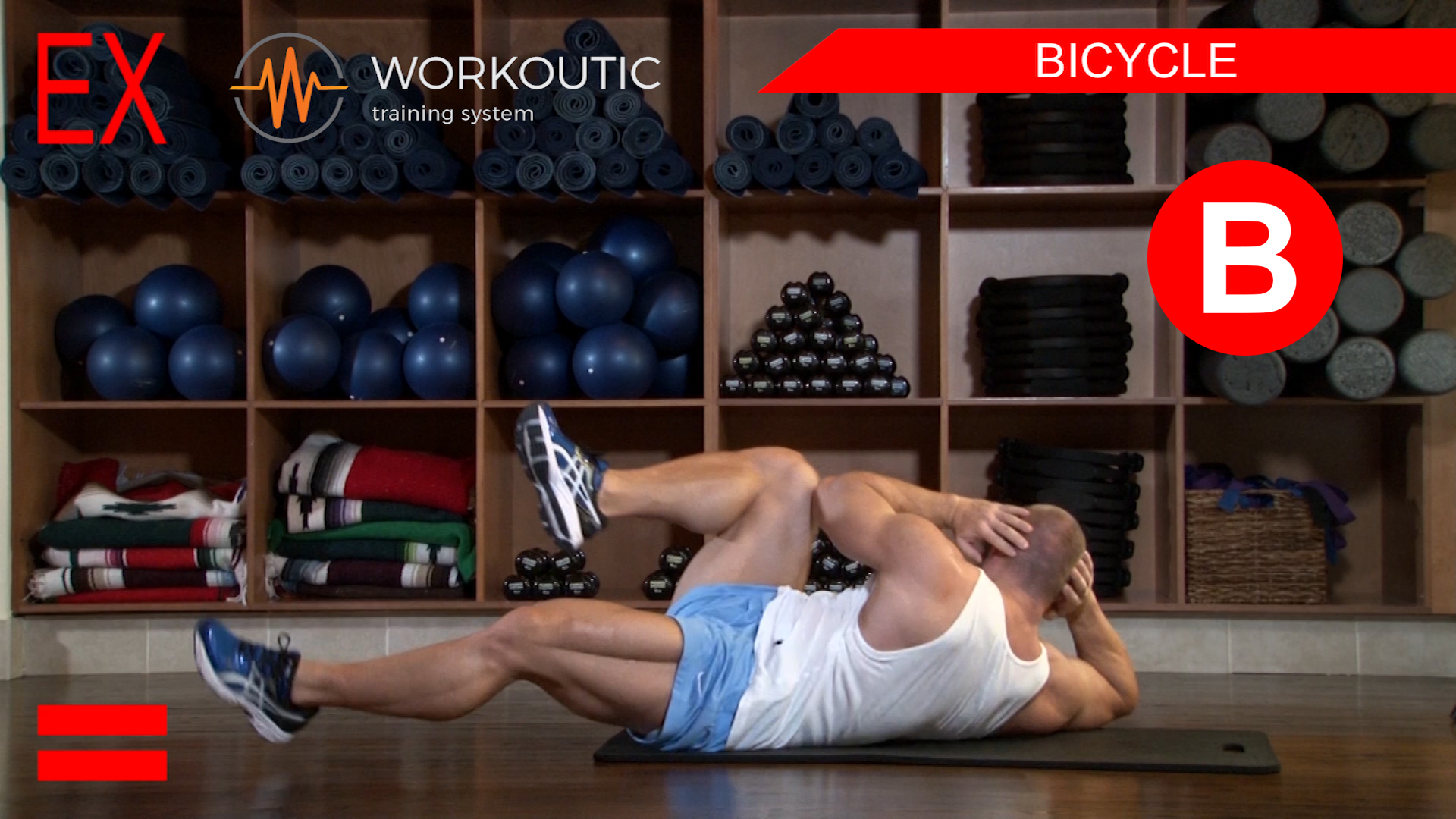 Abs Exercises - Workutic - 6 pack special - Bicycle Exhale