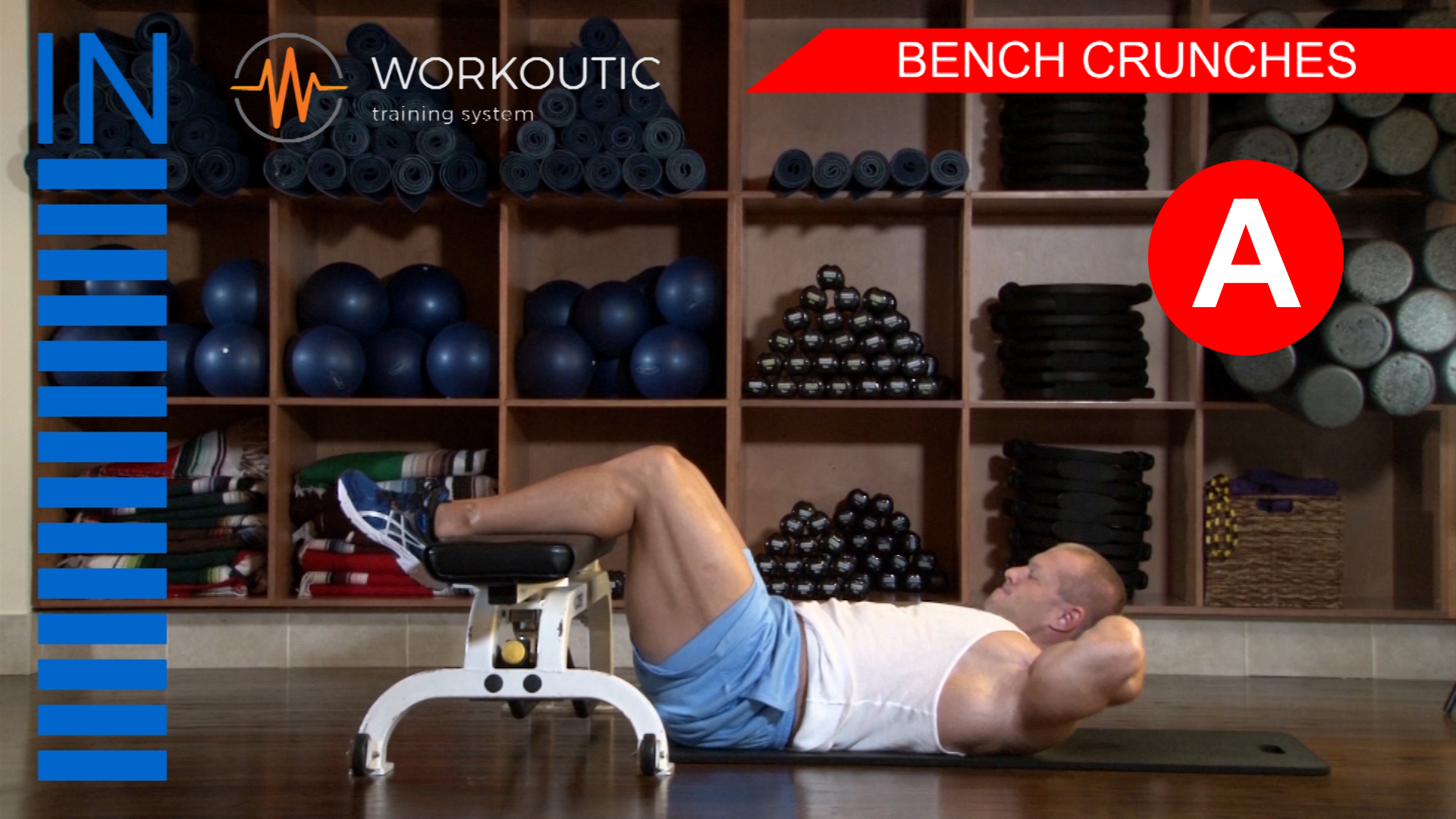 Abs Exercises - Workutic - 6 pack special - Bench Crunches Inhale