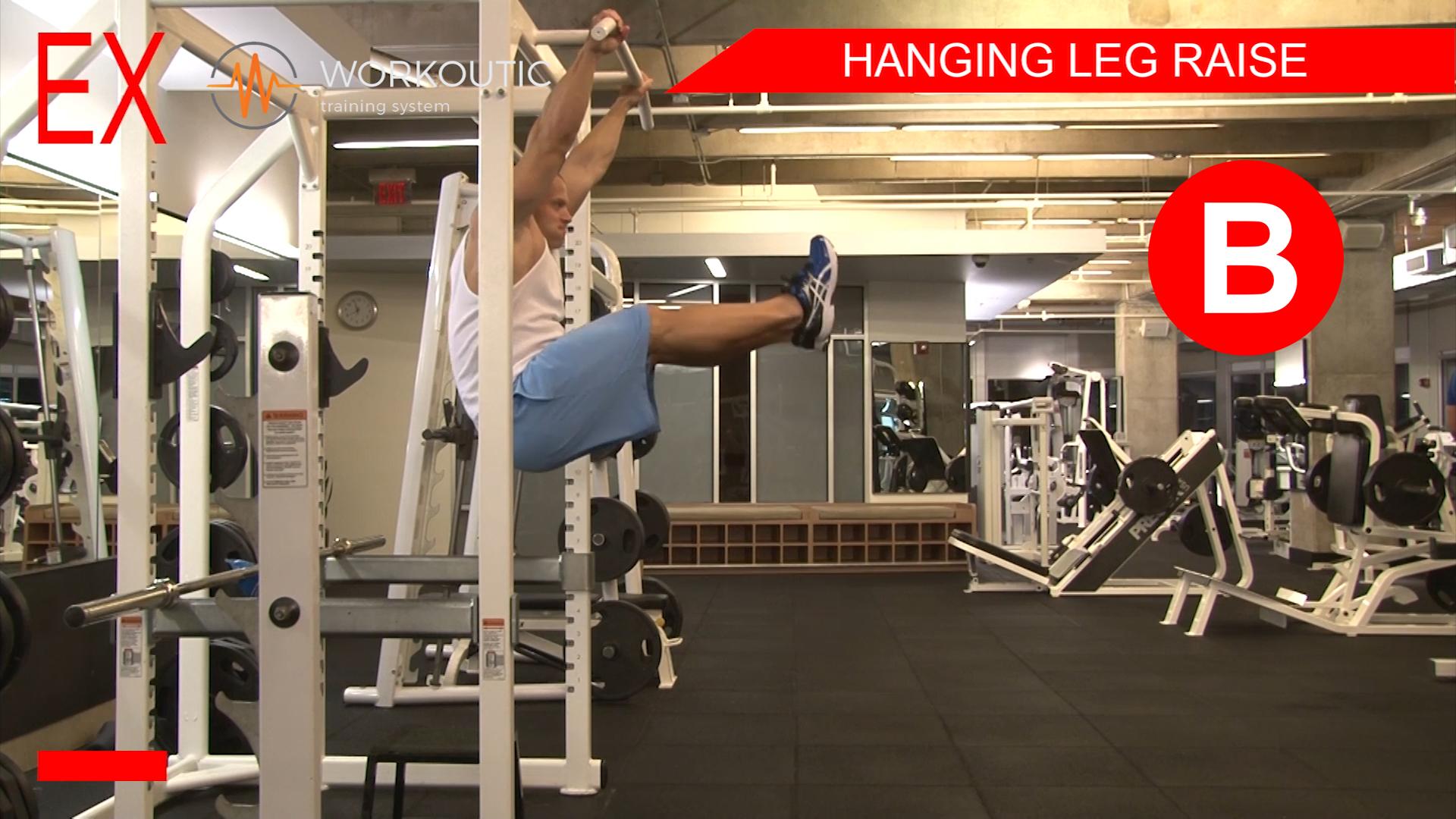 Cviky na brucho - Workutic - 6 pack special - Dvihanie noh vo vise na hrazde vydych