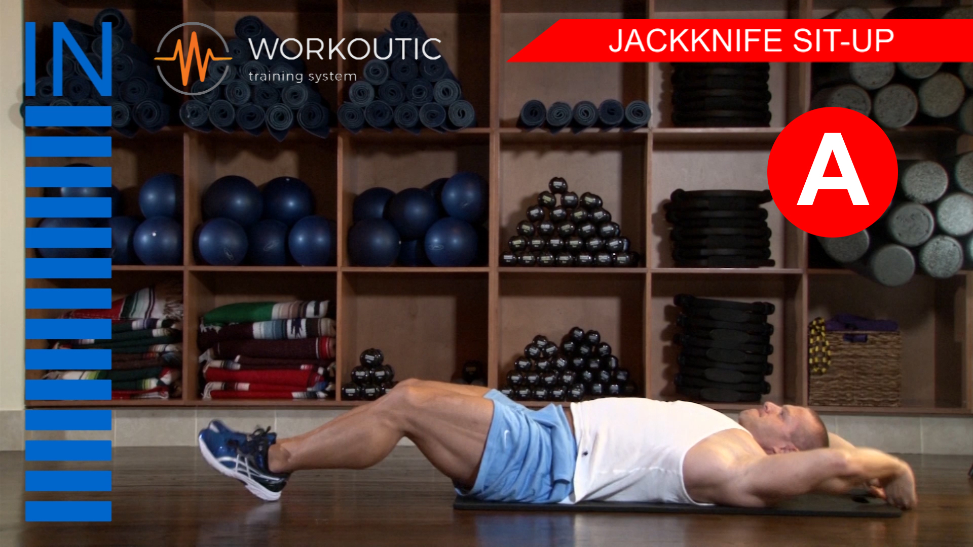 Abs Exercises - Workutic - 6 pack special - Jackknife Sit Up Inhale