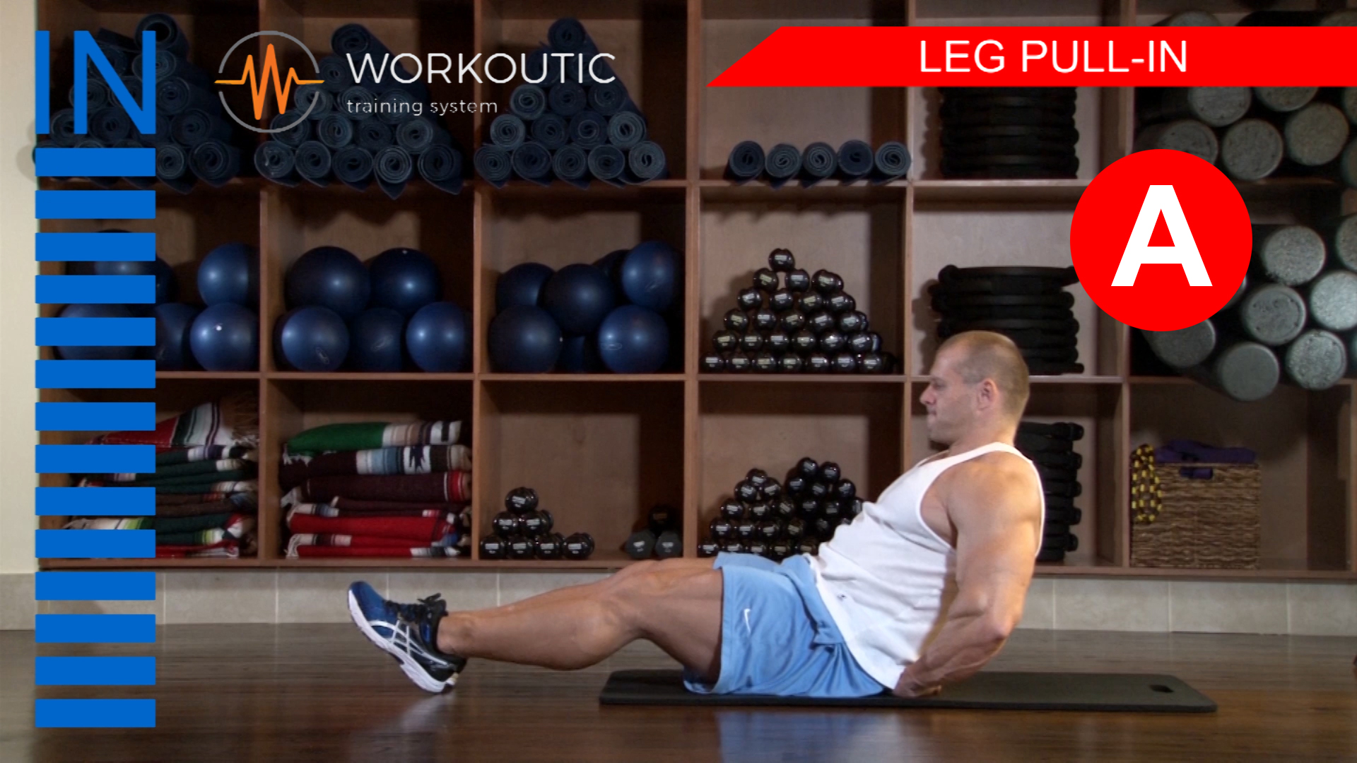 Abs Exercises - Workutic - 6 pack special - Leg Pull In Inhale