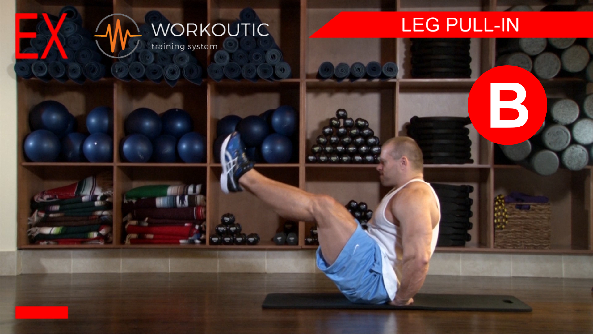 Abs Exercises - Workutic - 6 pack special - Leg Pull In Exhale