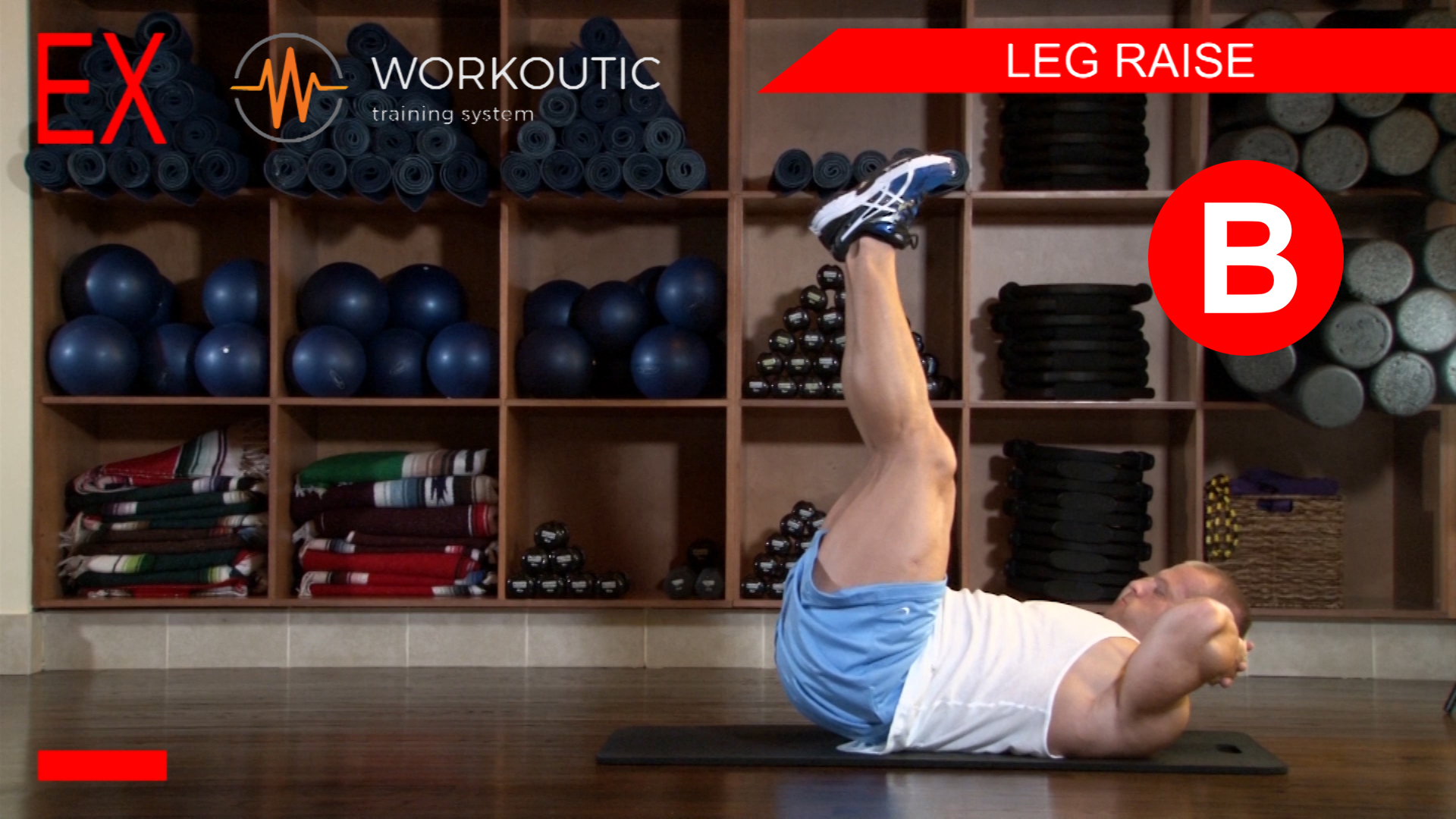 Abs Exercises - Workutic - 6 pack special - Leg Raise Exhale