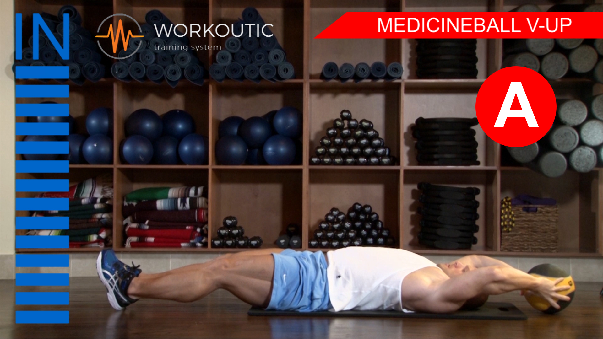 Abs Exercises - Workutic - 6 pack special - Medicineball V-Up Inhale