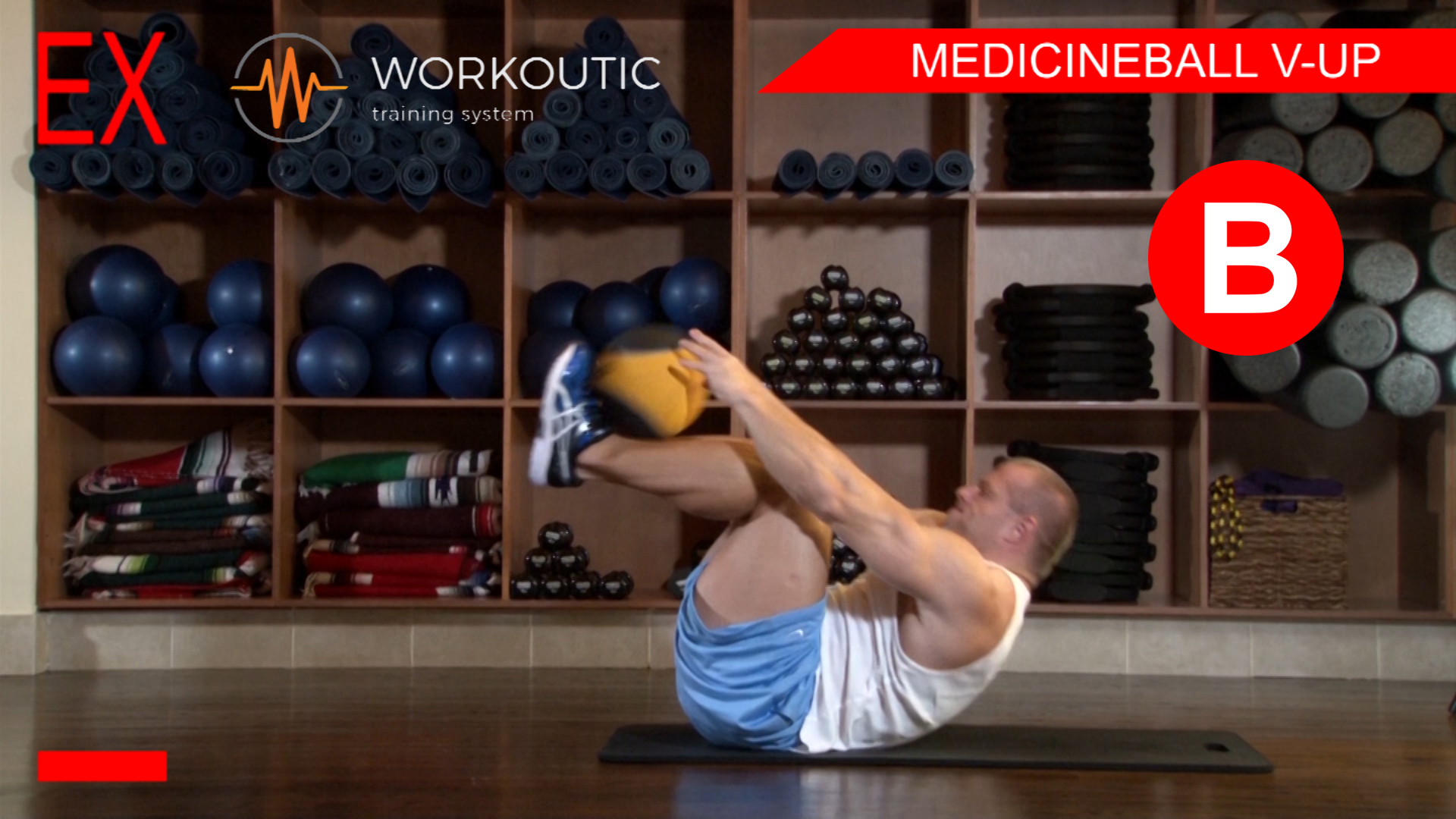 Abs Exercises - Workutic - 6 pack special - Medicineball V-Up Exhale
