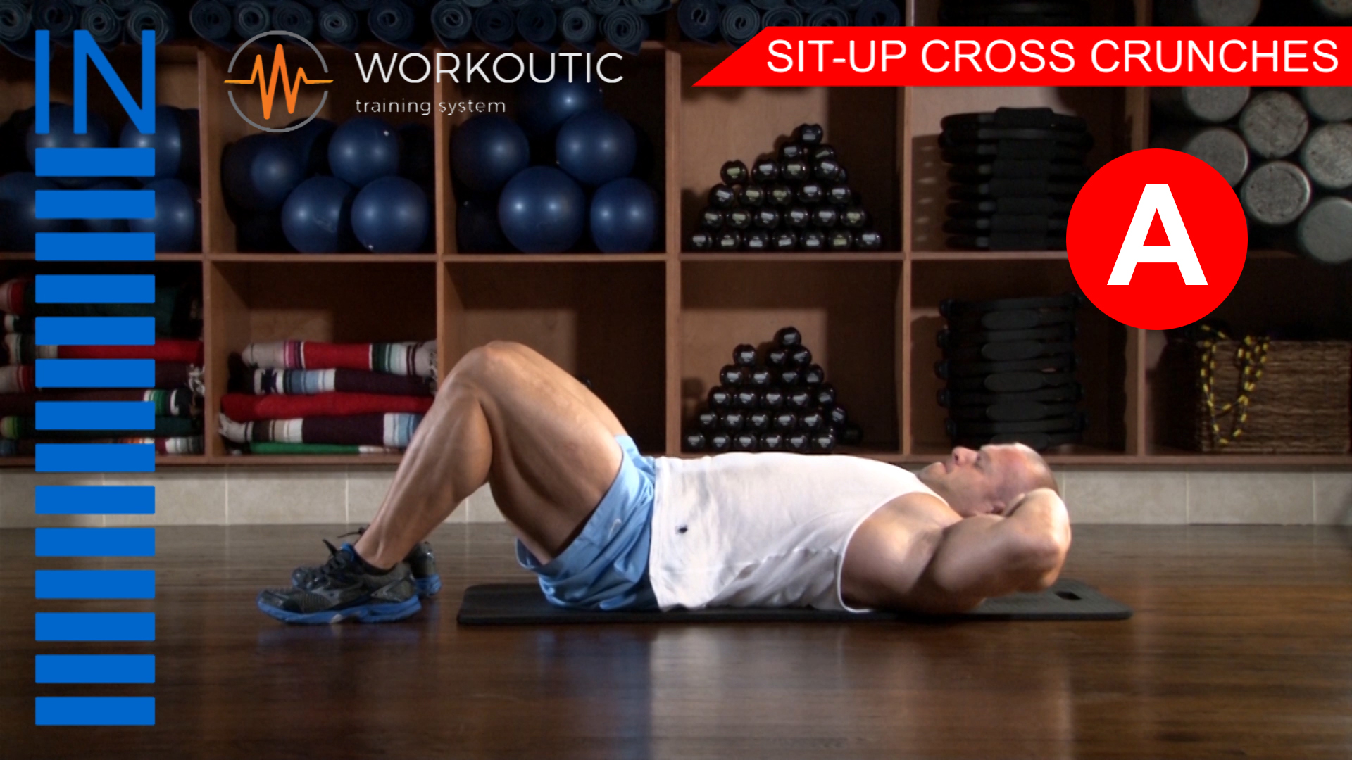 Abs Exercises - Workutic - 6 pack special - Sit-Up Cross Crunches Inhale