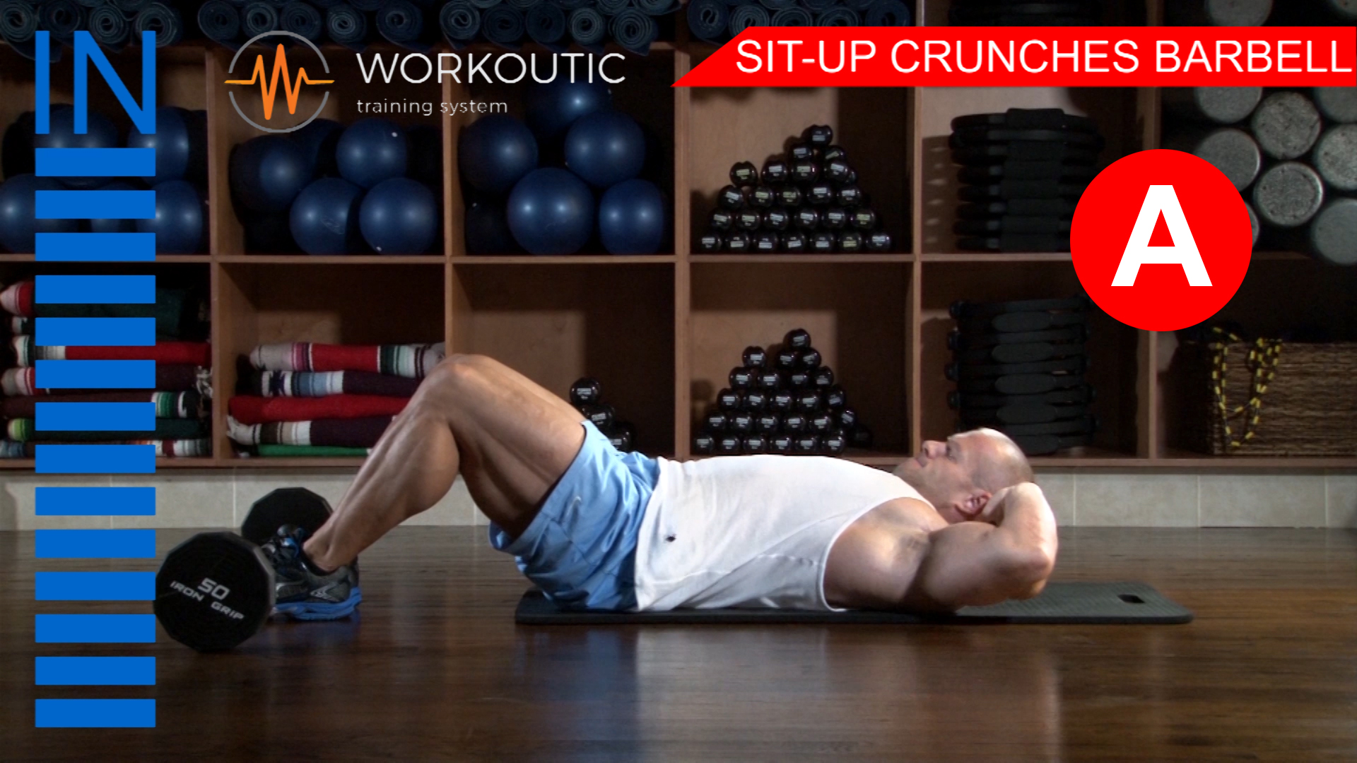 Abs Exercises - Workutic - 6 pack special - Sit-Up Crunches with Leg Support Inhale
