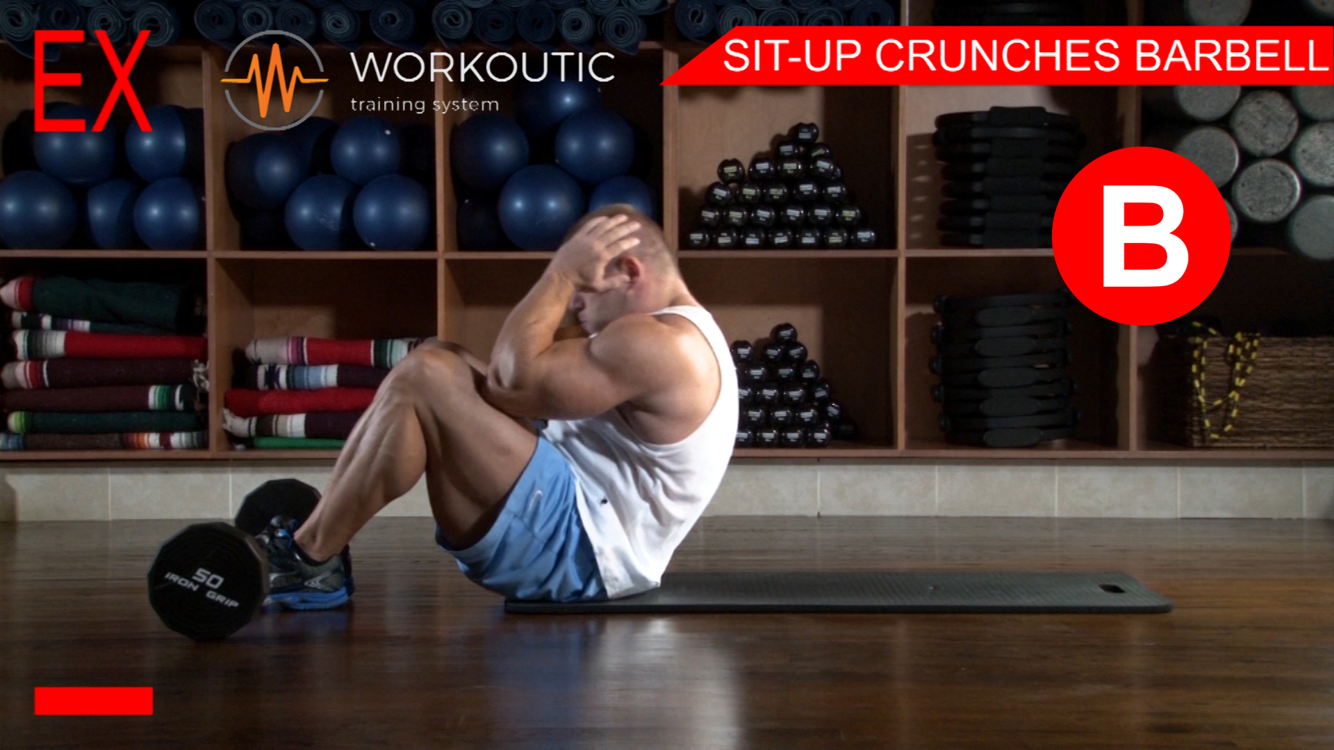 Abs Exercises - Workutic - 6 pack special - Sit-Up Crunches with Leg Support Exhale