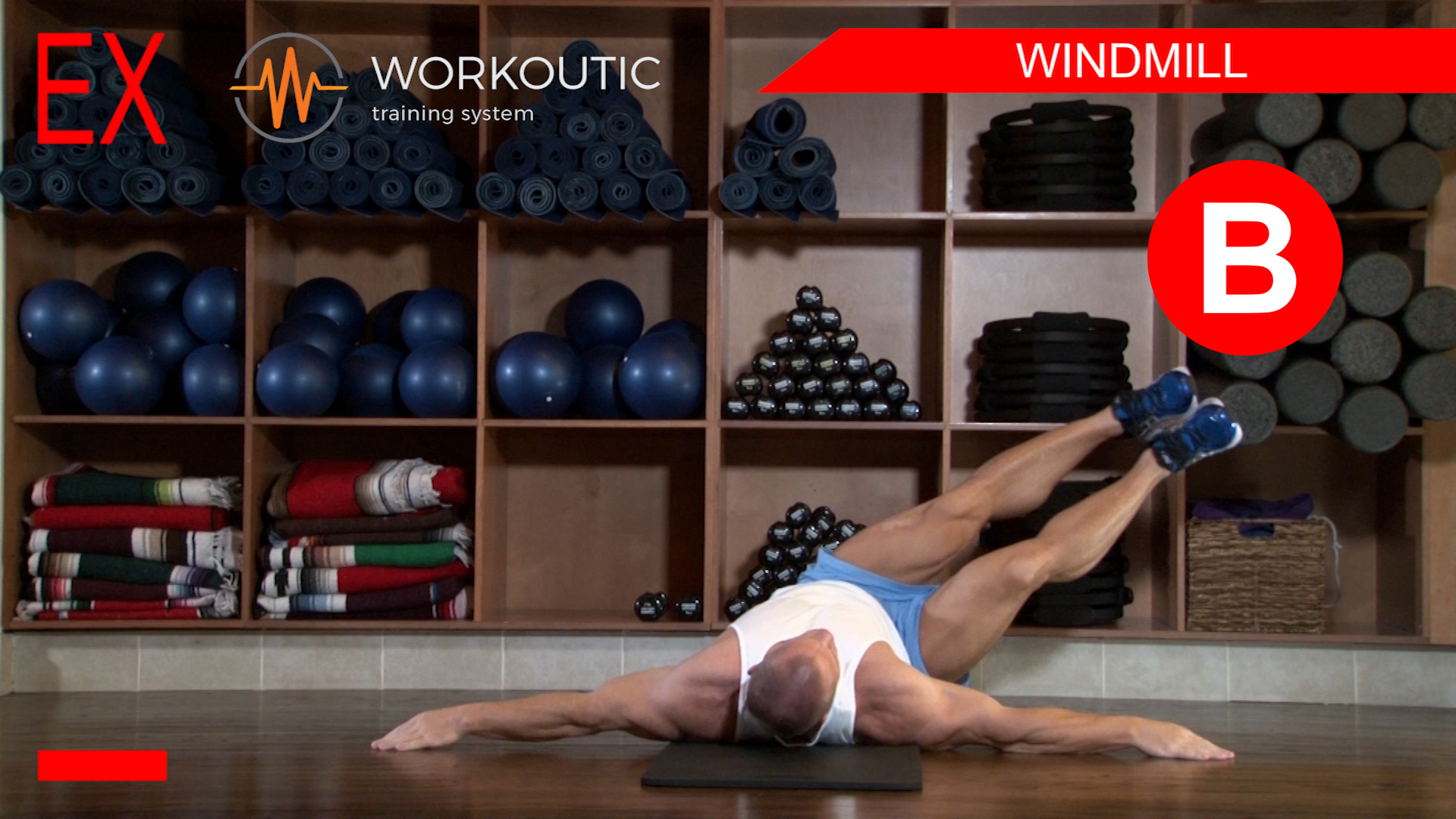 Abs Exercises - Workutic - 6 pack special - Windmill Exhale